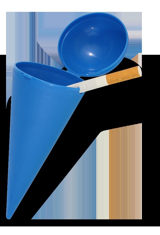 cendrier de plage ice-cream bleu en plastique