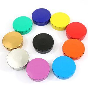 Cendriers de poche clic clac en métal, 10 couleurs disponibles