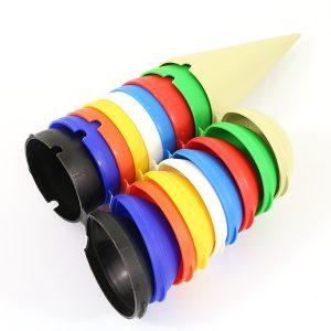 Cendrier de poche en plastique Ice-cream personnalisé large gamme de couleurs