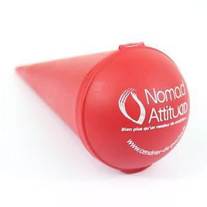 Cendrier de poche en plastique Ice-cream personnalisé couleur rouge