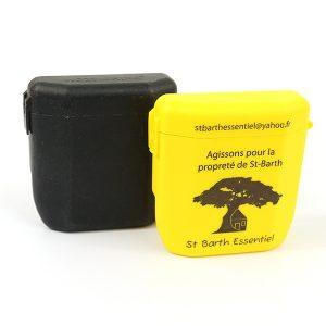 cendrier plastique jaune, cendrier personnalise, cendrier de poche noir