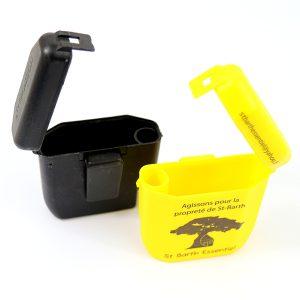 cendrier personnalise, cendrier de poche mozzo, cendriers jaune et noir.