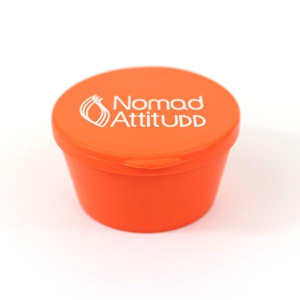 cendrier de poche p'tite boite personnalisée en plastique orange Nomad Attitudd